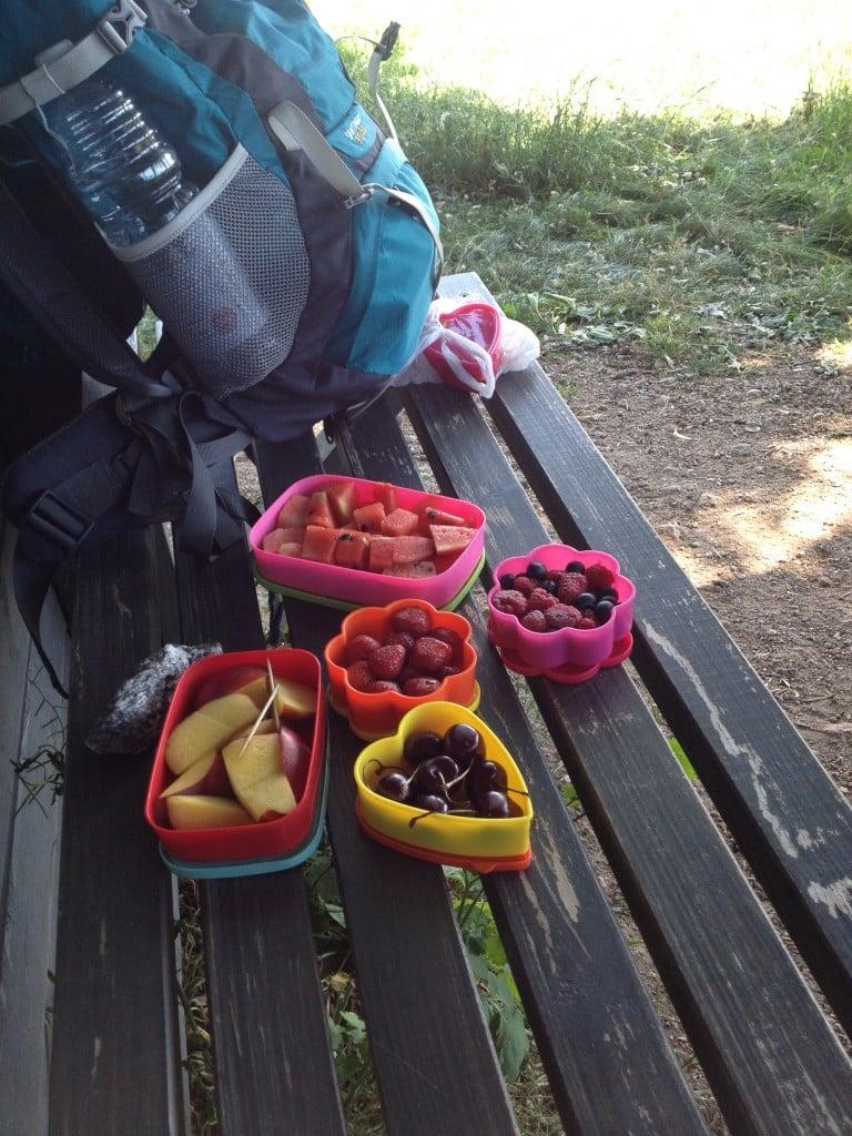 Erstmal Pause mit viel Obst
