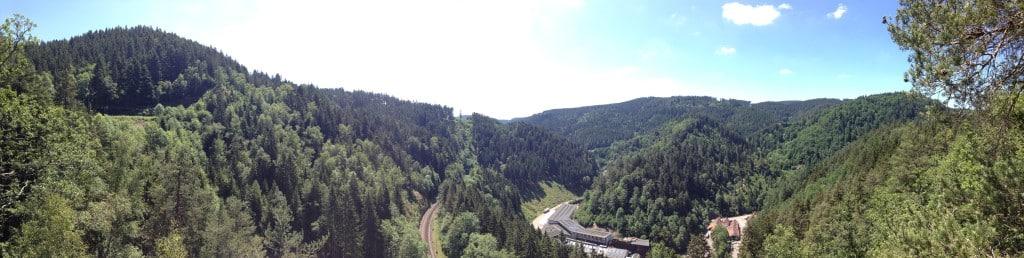 Panorama blick über das Tal