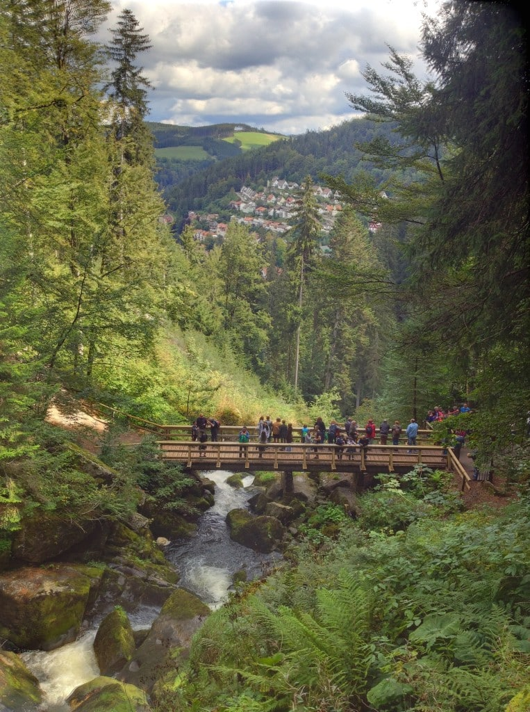 Blick ins Tal über Triberg