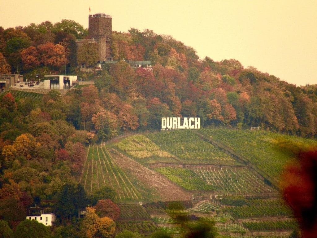 Blick auf den Turmberg in Durlach