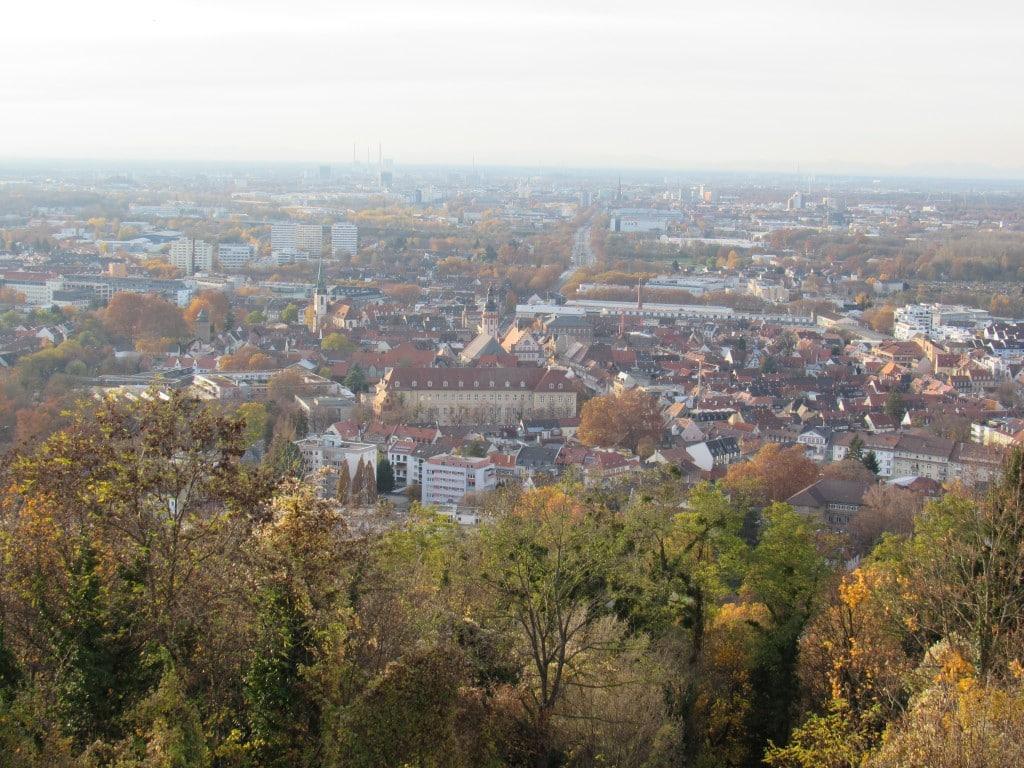 Blick über Karlsruhe
